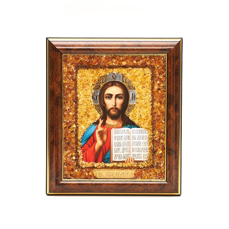 Изображение Спаситель янтарь 14х17 см