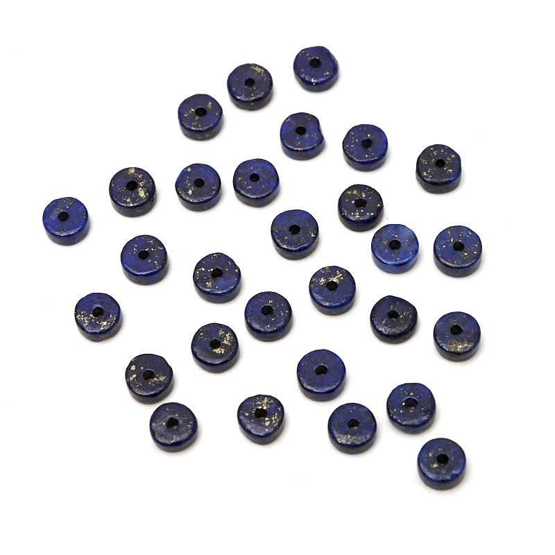 Бусина лазурит шайба 4,5 мм (1 шт)