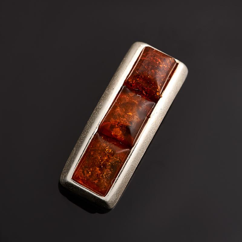 цена на Кулон янтарь (латунь посеребр.) 2 см
