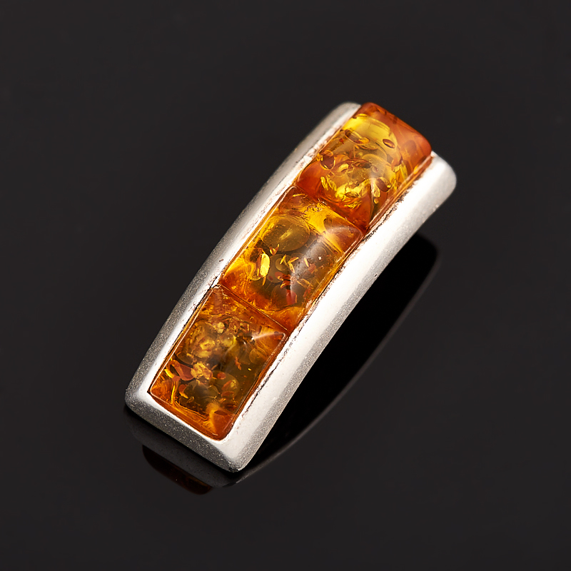 Кулон янтарь (латунь посеребр.) 2 см am 1734подвеска золотой ключик латунь янтарь