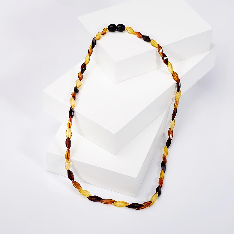 Бусы янтарь пресс 44 см браслет янтарь пресс 5 мм 17 см