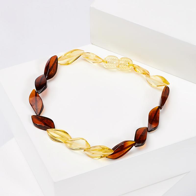 Браслет янтарь 20 см браслет янтарное лето искусственный янтарь россия