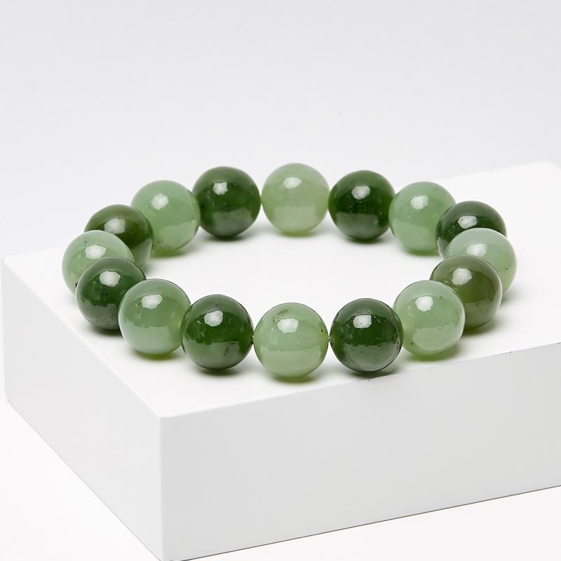 Браслет нефрит зеленый 11 мм 16 см браслет stone будда нефрит браслет stone будда нефрит
