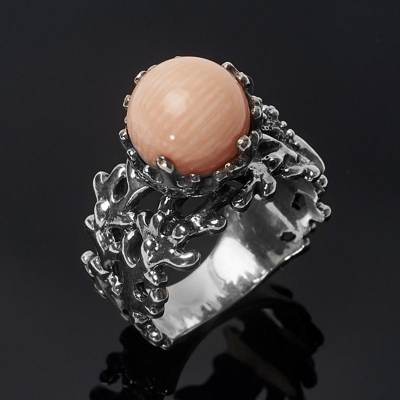Кольцо коралл розовый (серебро 925 пр.) размер 17 кольцо мех коралл