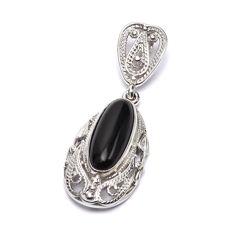 Кулон агат черный (серебро 925 пр.) jingtian драгоценности агат халцедон кулон благополучно кольцо