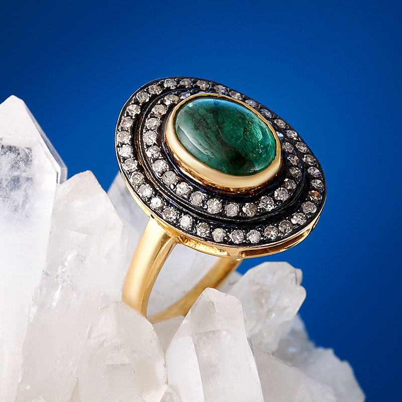 Кольцо берилл (золото 585 пр.) размер 17,5