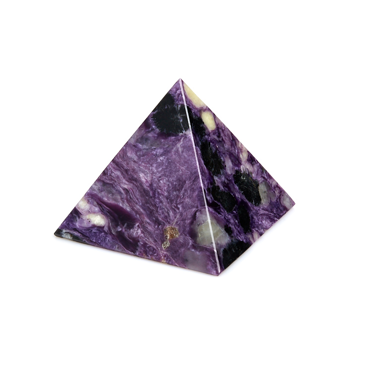 Пирамида чароит 5 см визитница чароит 5 5х9 5 см