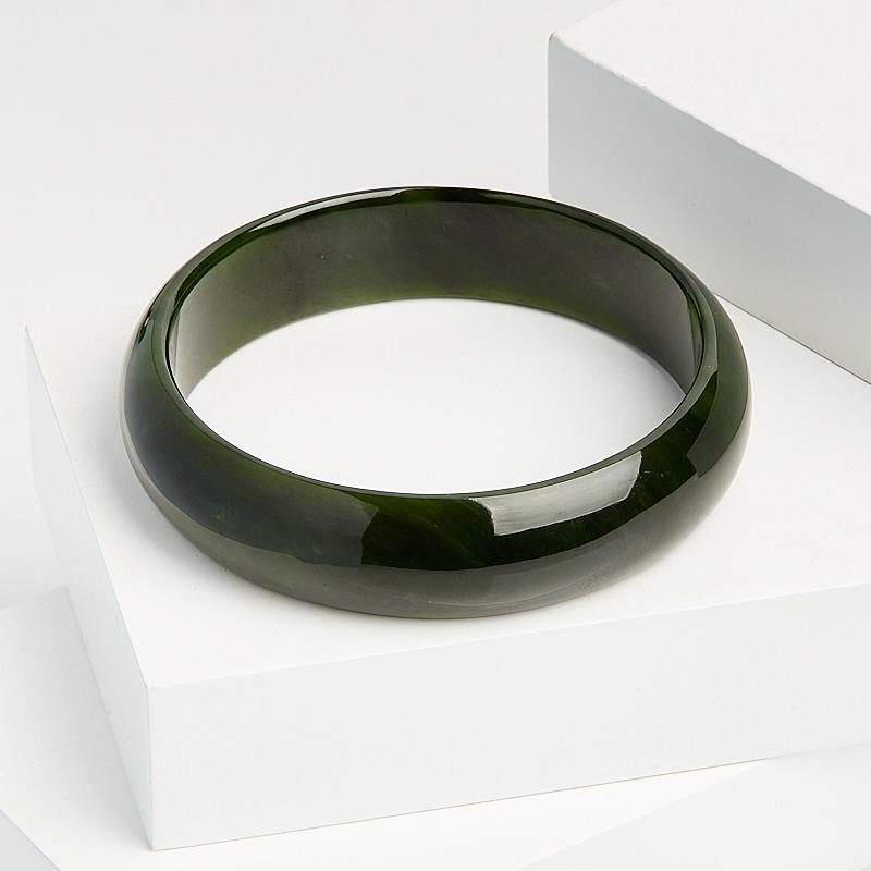 Браслет нефрит зеленый цельный 20 см елочная игрушка нефрит зеленый 5 см