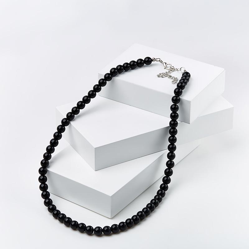 Бусы агат черный 6 мм 46-53 см (биж. сплав) бусы деметра натуральный агат индия