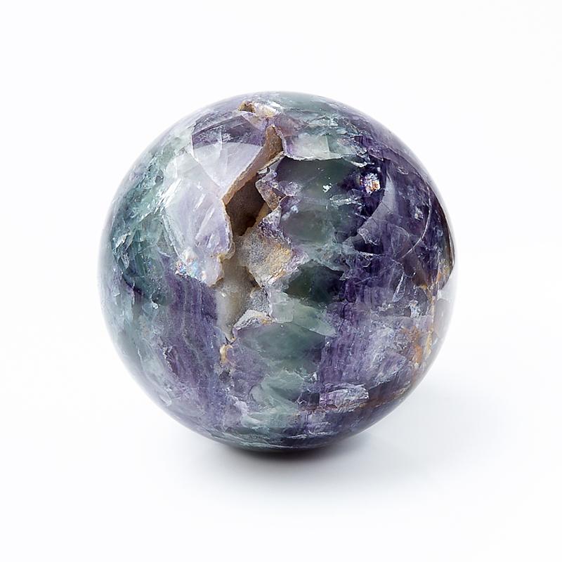 Шар флюорит фиолетовый 6 см decolux карниз артик шар двухрядный стеновой золото античное 201 см ø1 6 см 40 колец j aqcvn1