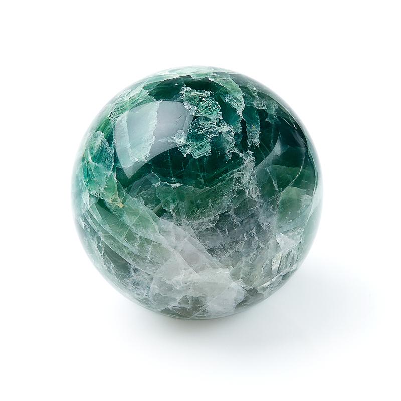 Шар флюорит зеленый 7 см елочный шар снежное плетение ку 100 11 17 диаметр 10 см