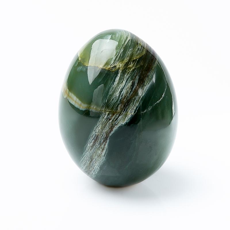 Яйцо нефрит зеленый с эффектом кошачьего глаза 6,5 см браслет из кошачьего глаза леди бнкг 12 4