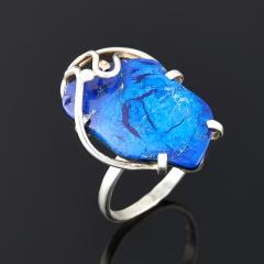 Кольцо азурит (дублет) Россия (серебро 925 пр.) размер 18,5