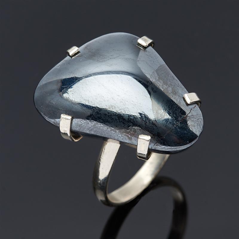 Кольцо гематит (дублет) Марокко (нейзильбер) размер 17,5
