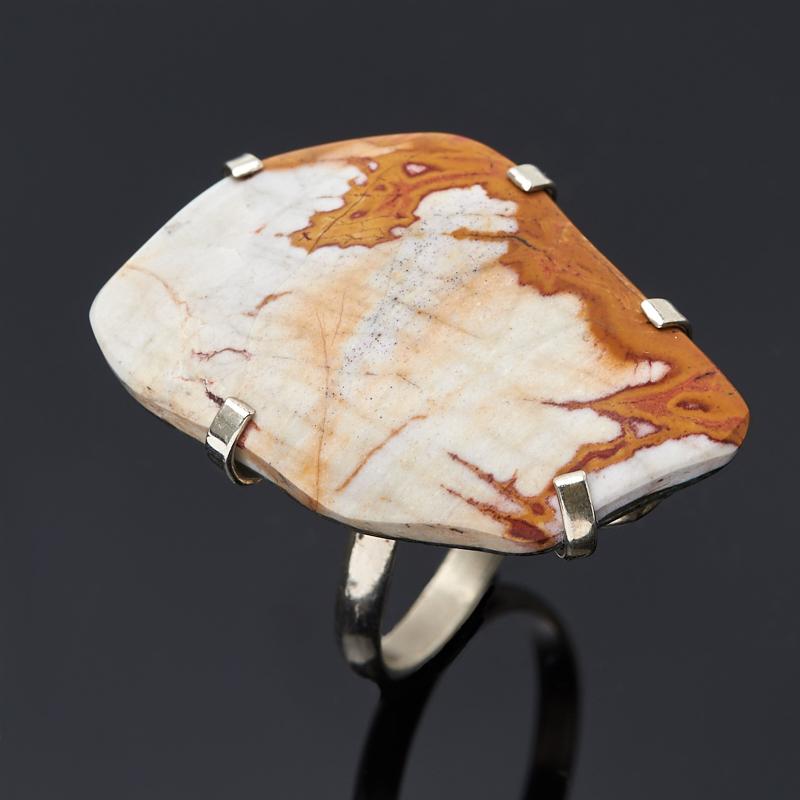 Кольцо яшма (дублет) (нейзильбер) размер 18,5 цена 2017