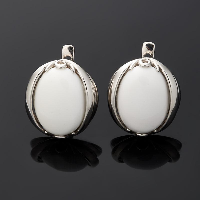 Серьги кахолонг (серебро 925 пр.) кольцо кахолонг серебро 925 пр размер 18