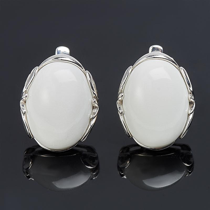 Серьги кахолонг (серебро 925 пр.) кольцо кахолонг серебро 925 пр размер 20 5