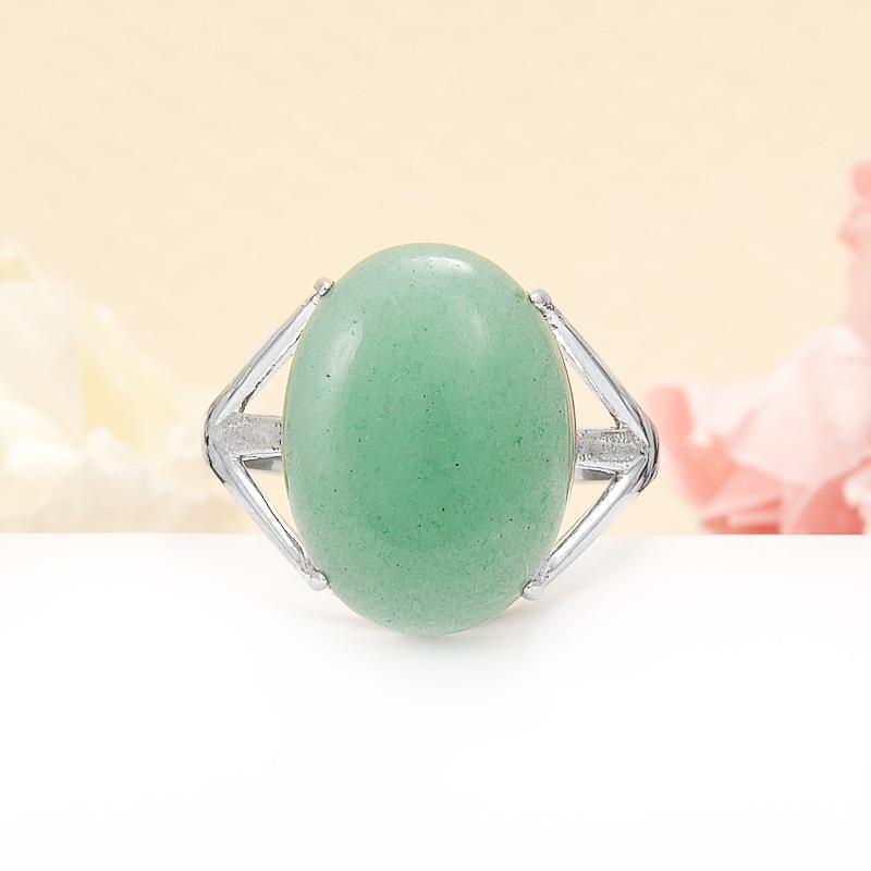 Кольцо авантюрин зеленый (серебро 925 пр.) размер 17,5 кольца колечки кольцо тереза авантюрин