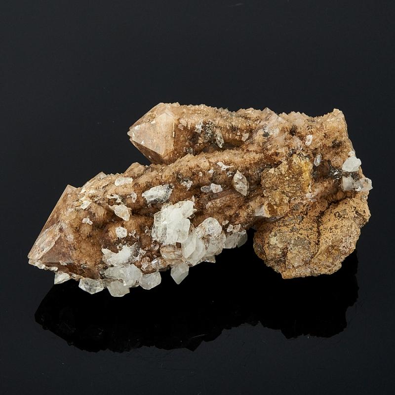 Кристалл кальцит на кварце  Дальнегорск 55х30х21 мм