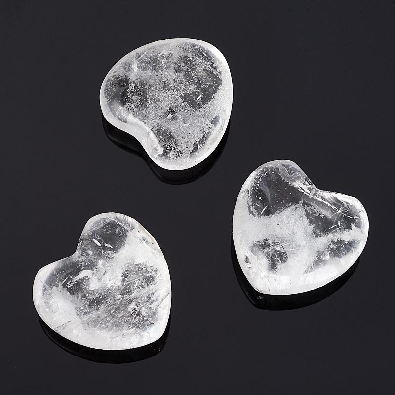 Сердечко горный хрусталь 2,5 см