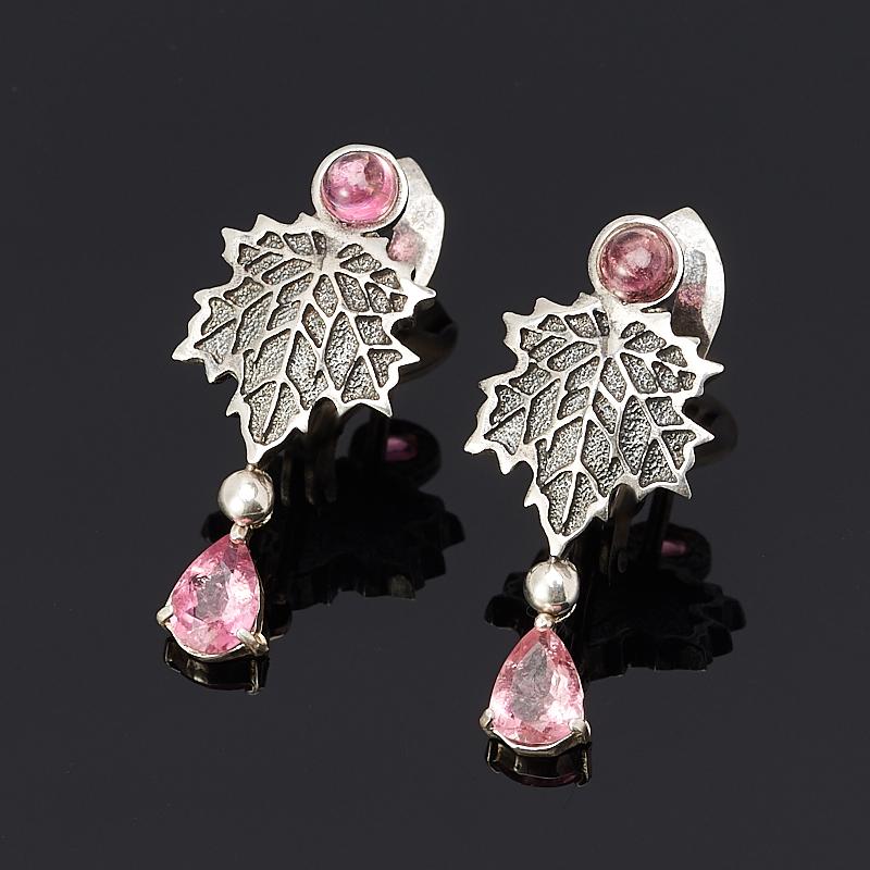 Серьги турмалин розовый (рубеллит) (серебро 925 пр.) зубная щётка детская reach wonder grip 17640
