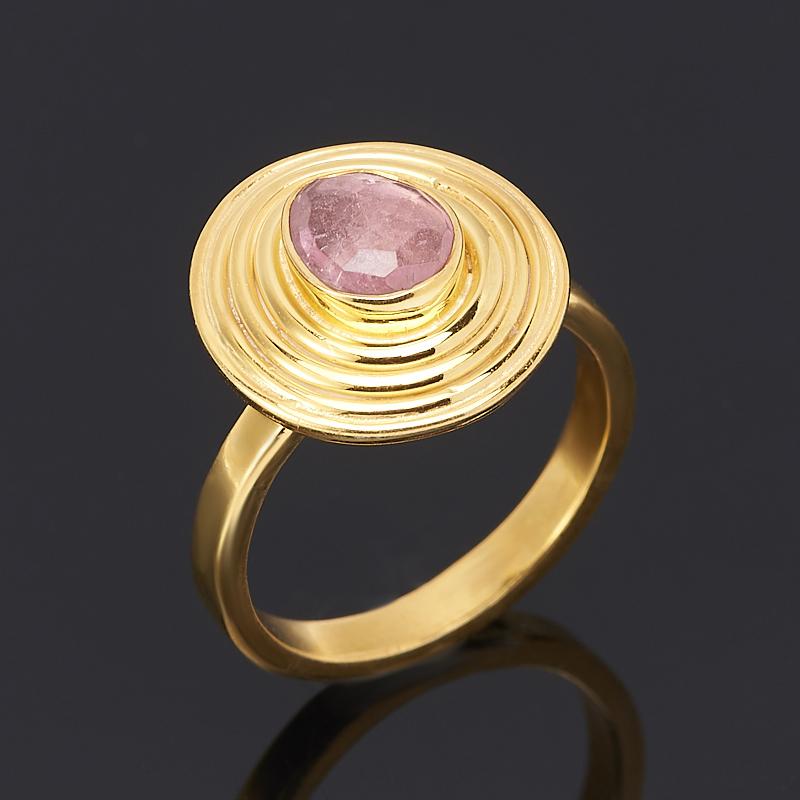 Кольцо турмалин розовый (рубеллит) огранка (серебро 925 пр., позолота) размер регулируемый jd коллекция розовый регулируемый 57см