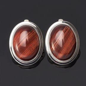 Серьги бычий глаз ЮАР (серебро 925 пр.)