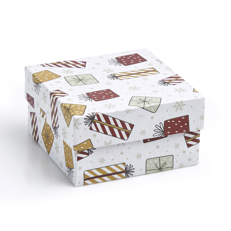 Подарочная упаковка универсальная 140х140х80 мм масленка french breakfast 16 11 6 5см подарочная упаковка