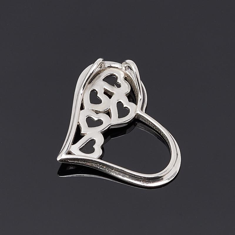 Кулон янтарь Россия сердечко (серебро 925 пр.)