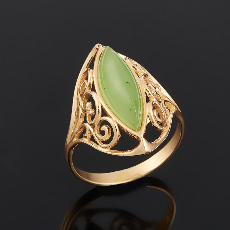 Кольцо нефрит зеленый (серебро 925 пр., позолота) размер 17 кольцо нефрит зеленый серебро 925 пр размер регулируемый