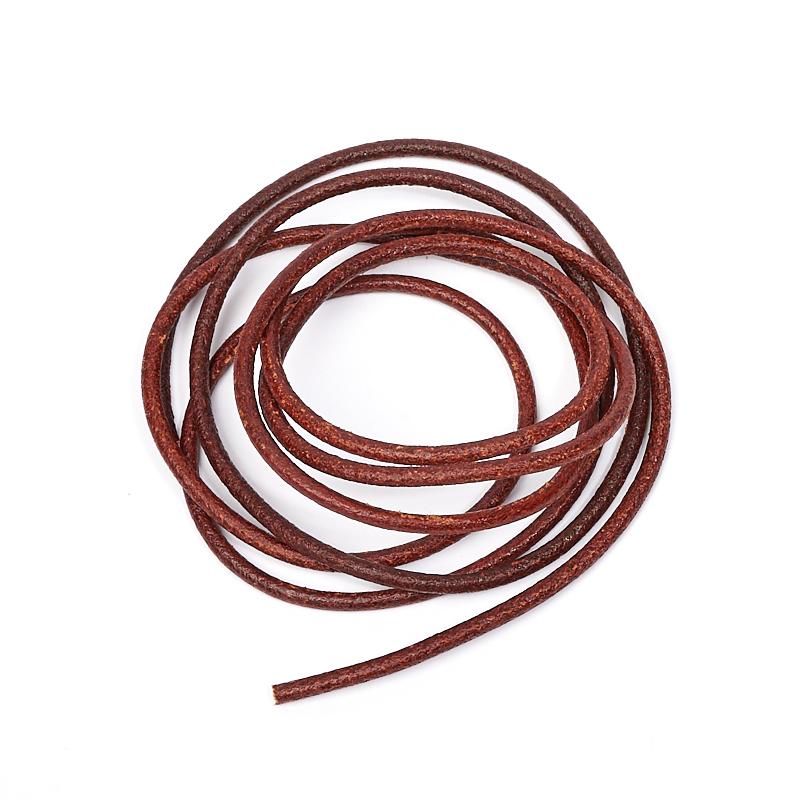Шнурок коричневый 80 см (натуральная кожа) кожаный шнурок синий 80смх2мм 80 cм