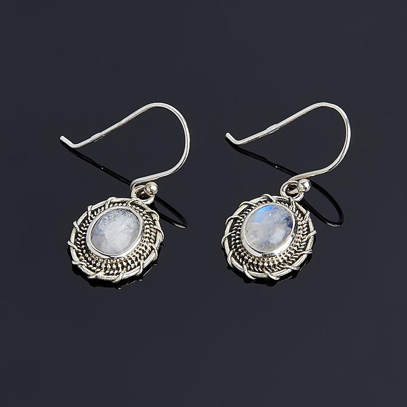 Фото Серьги лунный камень (серебро 925 пр.)