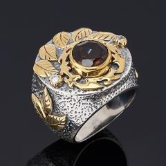 Кольцо раухтопаз Бразилия огранка (серебро 925 пр.) размер 18