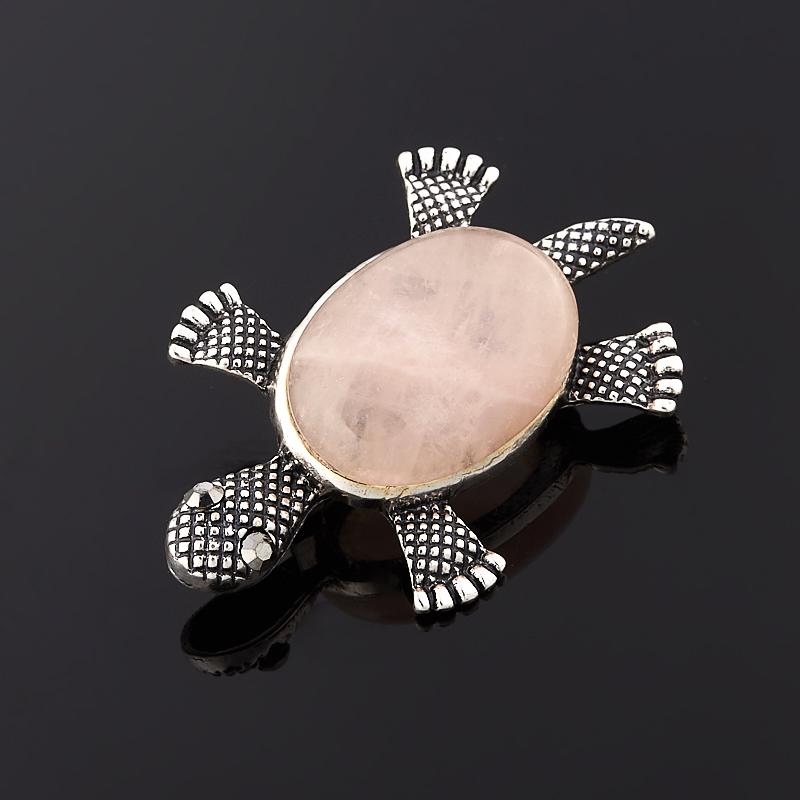 Брошь розовый кварц (биж. сплав) винтажная брошь серебряный лист от sarah coventry бижутерный сплав серебряного тона канада 1970 е годы