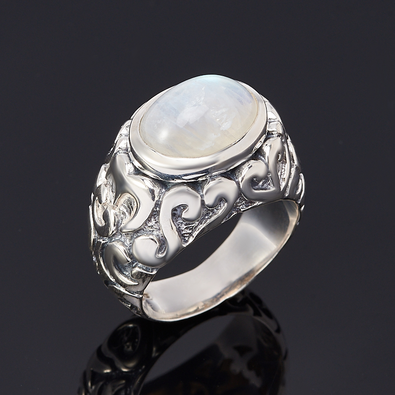 Кольцо лунный камень (серебро 925 пр.) размер 19,5 ar535 925 чистое серебро кольцо 925 серебро ювелирные изделия кокосовый орех вал инкрустированные красный камень bdbajuia dsyamkfa