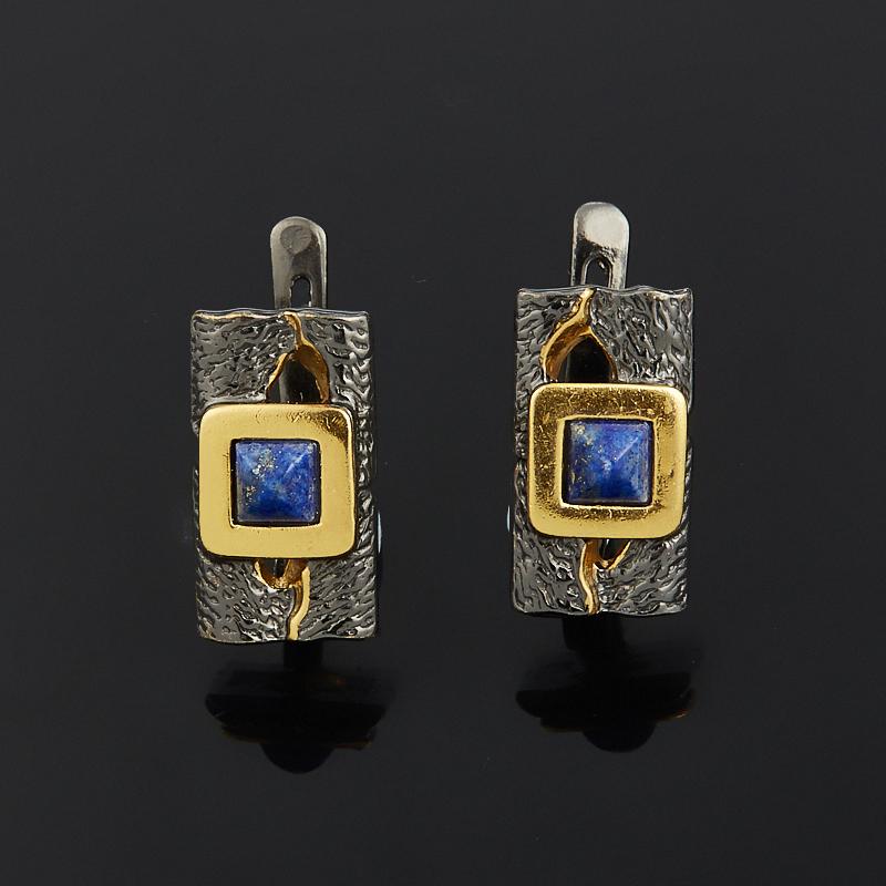Серьги лазурит (серебро 925 пр., позолота) жен крупногабаритные серебрянное покрытие позолота серьги слезки серьги кольца секси крупногабаритные золотой серебряный