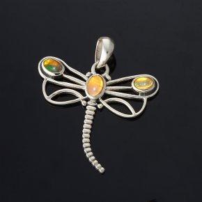 Кулон опал благородный желтый Эфиопия (серебро 925 пр.)