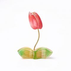 Цветок на подставке селенит Россия 10,5 см
