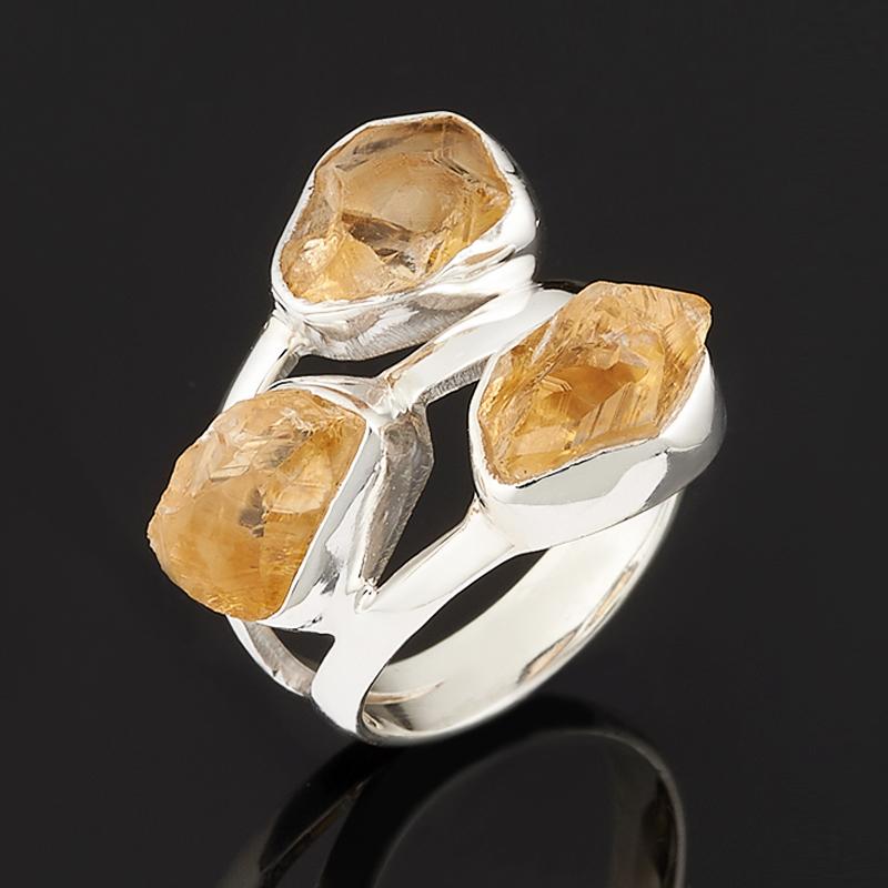 Кольцо цитрин (серебро 925 пр.) размер 17 колье микс аметист раухтопаз топаз лондон огранка 44 см серебро 925 пр
