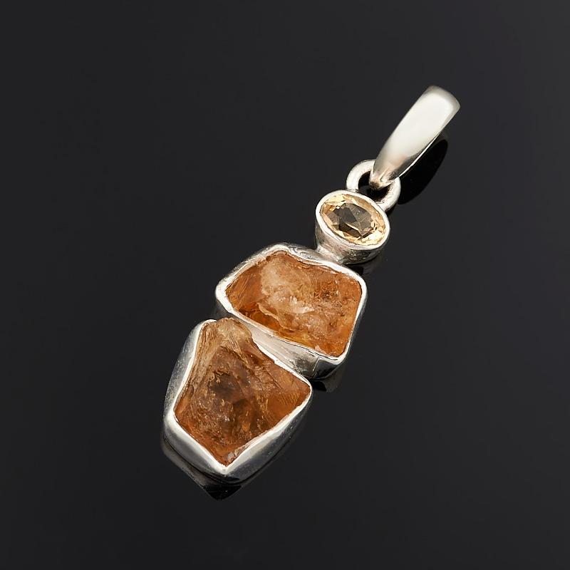Кулон цитрин  (серебро 925 пр.)