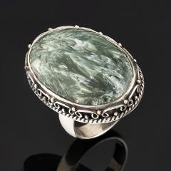 Кольцо клинохлор (серафинит) Россия (серебро 925 пр.) (регулируемый) размер 17,5
