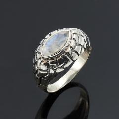 Кольцо лунный камень Индия огранка (серебро 925 пр.) размер 18,5
