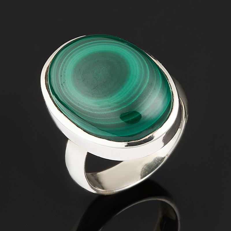 Кольцо малахит (серебро 925 пр.) размер 17 кольца колечки кольцо красотка им малахит