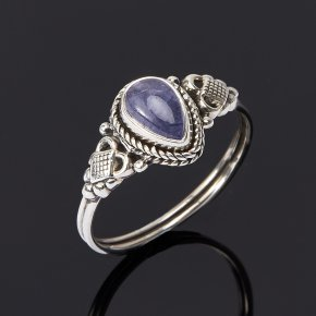 Кольцо танзанит Танзания (серебро 925 пр.) размер 18,5