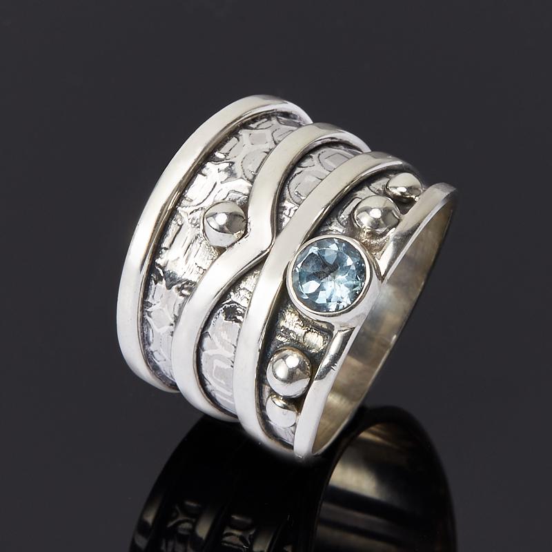 Кольцо топаз голубой огранка (серебро 925 пр.) размер 18 кольцо коюз топаз кольцо т703016479