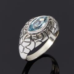 Кольцо топаз голубой Бразилия огранка (серебро 925 пр.) размер 17