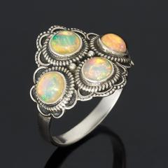 Кольцо опал благородный белый Эфиопия (серебро 925 пр.) размер 18