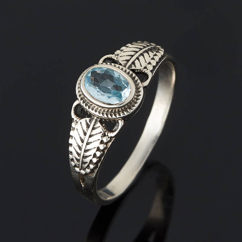 Кольцо топаз голубой огранка (серебро 925 пр.) размер 18 кольцо коюз топаз кольцо т748013584