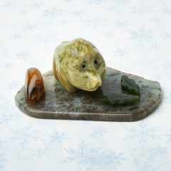 Свинка на подставке офиокальцит Россия 5х9 см