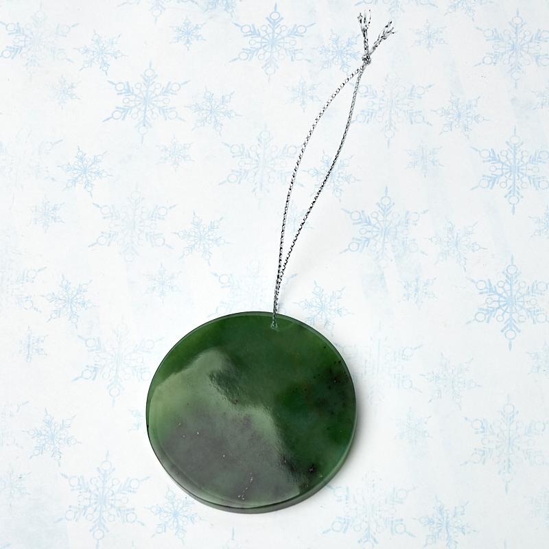 Елочная игрушка нефрит зеленый Россия с Новым годом! 5 см